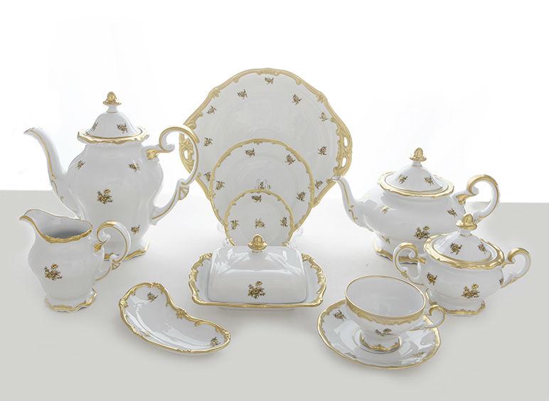 Чайный сервиз РОЗА ЗОЛОТАЯ