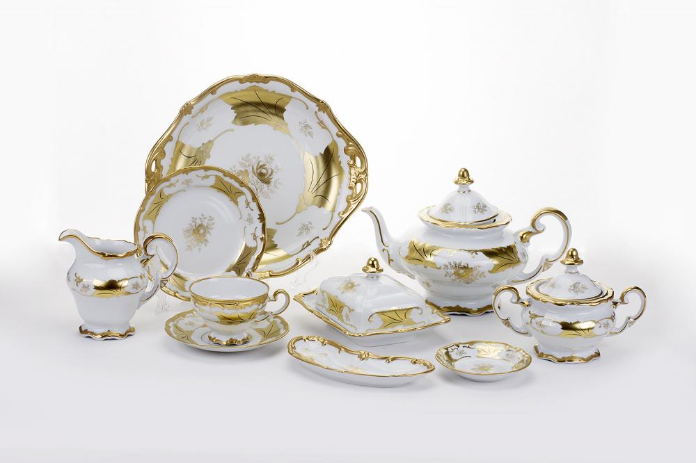 Чайный сервиз КЛЕНОВЫЙ ЛИСТ БЕЛЫЙ от Weimar Porzellan
