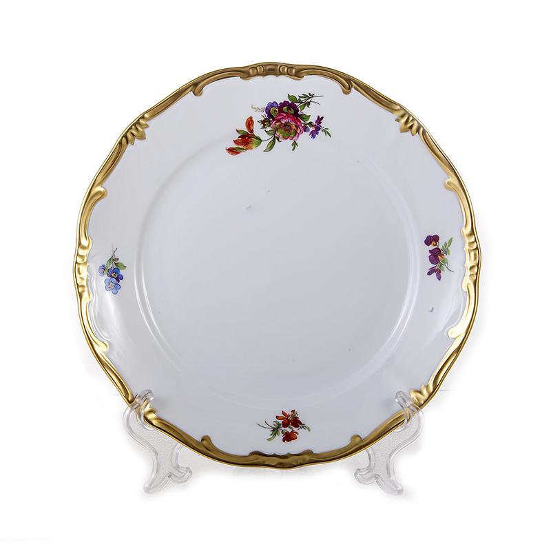 Набор фарфоровых тарелок 24 см МЕЙСЕНСКИЙ БУКЕТ от Weimar Porzellan, 6 шт.