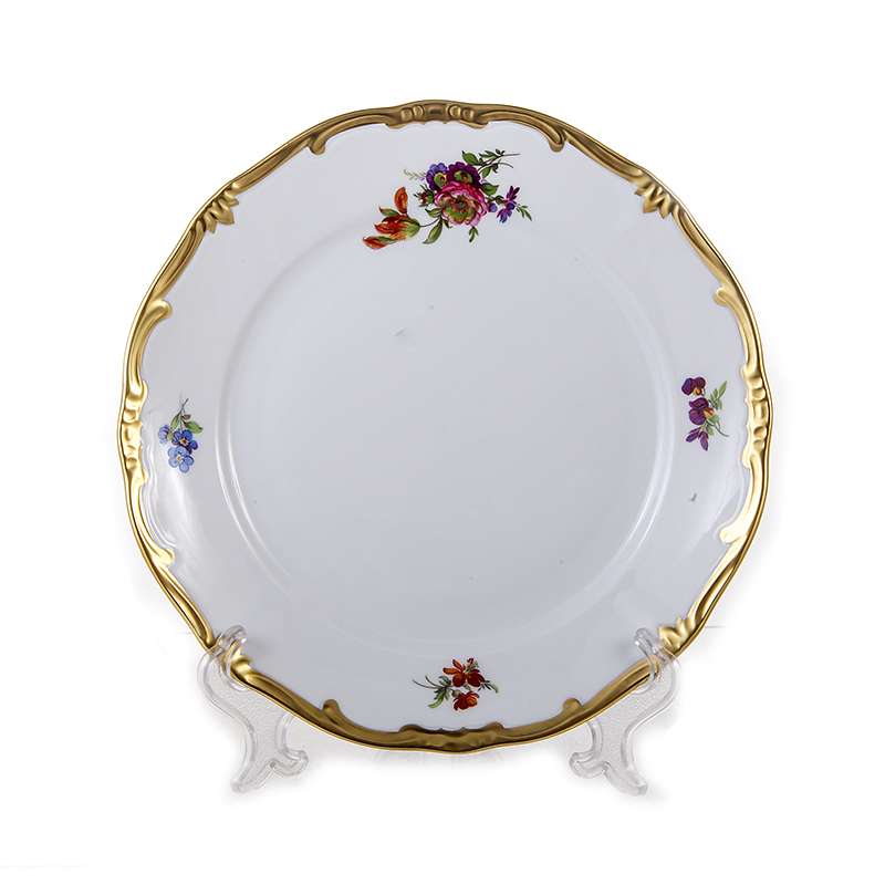 Набор фарфоровых тарелок 19 см МЕЙСЕНСКИЙ БУКЕТ от Weimar Porzellan, 6 шт.
