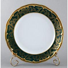 Набор фарфоровых тарелок 19 см ЮВЕЛ ЗЕЛЕНЫЙ от Weimar Porzellan, 6 шт.