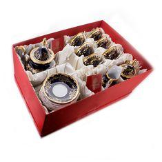 Сервиз чайный ЮВЕЛ КОБАЛЬТ от Weimar Porzellan на 6 персон, 21 предмет, подарочная упаковка