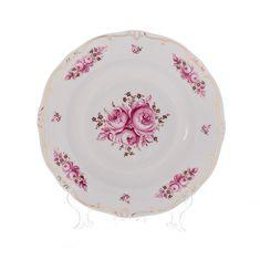 Набор из шести тарелок 24 см РОЗА от Weimar Porzellan, фарфор