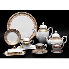 Сервиз чайный БЕЛЬВЕДЕР (Ренессанс 269) от Weimar Porzellan на 6 персон, 31 предмет