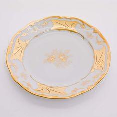 Набор тарелок 26 см КЛЕНОВЫЙ ЛИСТ БЕЛЫЙ от Weimar Porzellan, фарфор, 6 шт.