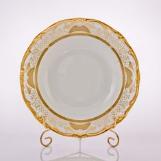 Набор глубоких тарелок 22 см СИМФОНИЯ ЗОЛОТАЯ от Weimar Porzellan, фарфор, 6 шт.