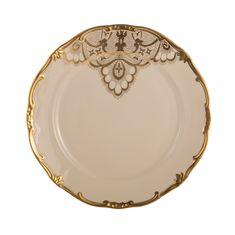 Набор фарфоровых тарелок 19 см ЛЭЙС КРЕМ (Lace Cream) от Weimar Porzellan, 6 шт.