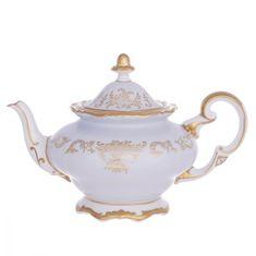 Фарфоровый чайник 1.2 л ЮВЕЛ ГОЛУБОЙ от Weimar Porzellan