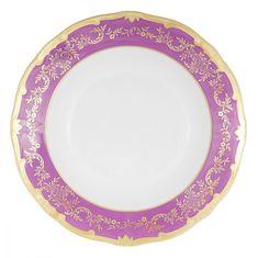 Набор глубоких тарелок 22 см ЮВЕЛ ФИОЛЕТОВЫЙ от Weimar Porzellan, фарфор, 6 шт.