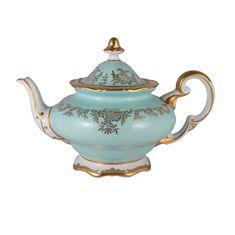 Фарфоровый чайник 1.2 л ЮВЕЛ БИРЮЗОВЫЙ от Weimar Porzellan