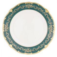 Блюдо круглое 30 см ЮВЕЛ ЗЕЛЕНЫЙ от Weimar Porzellan, фарфор