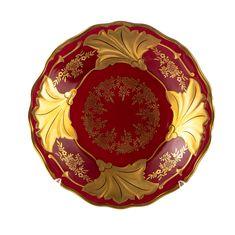 Фарфоровая тарелка-Ютта 19 см ЮВЕЛ КРАСНЫЙ от Weimar Porzellan